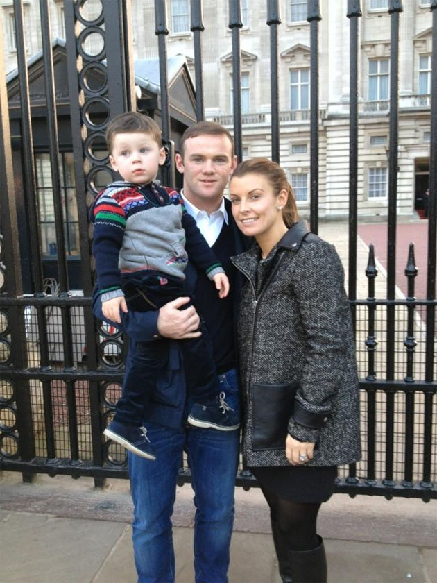 Coleen, Wayne and Kai Rooney