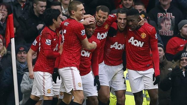 Manchester United joy v Manchester City