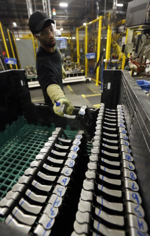 Factory output falls for third straight month in February