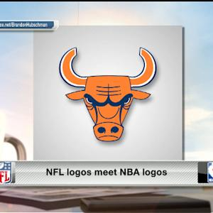NFL logos meet NBA logos