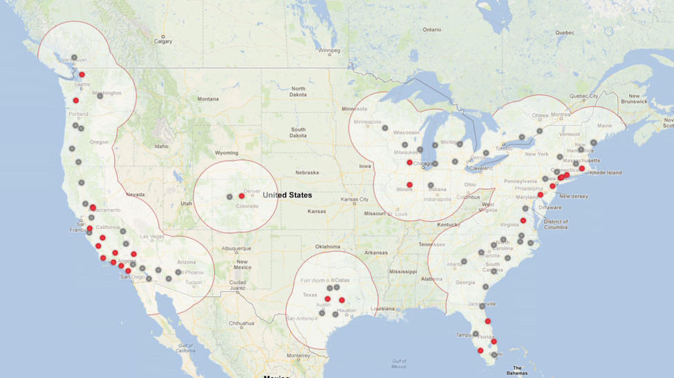 tesla supercharger map