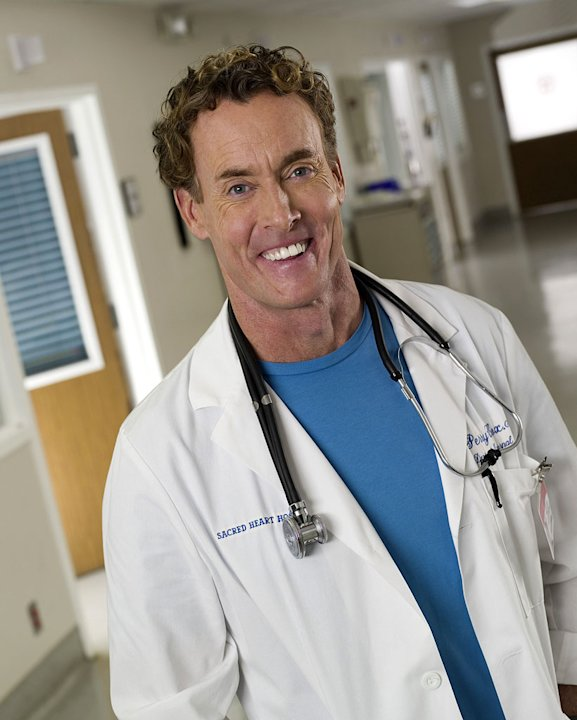 John C. McGinley stars as Dr. Perry Cox in Scrubs.