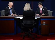 Democrat Joe Biden (L) and Republican Paul Ryan take part in the vice-presidential debate in Danville, Kentucky, on October 11. After US vice-presidential rivals battled to a draw in their debate, all eyes turned to chief protagonists Barack Obama and Mitt Romney as they geared up for their next showdown