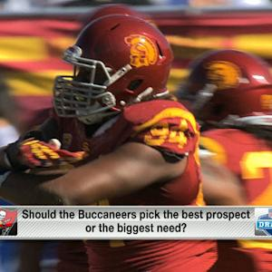Should Tampa Bay Buccaneers pick the best prospect or biggest need?