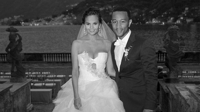 John Legend, Chrissy Teigen Wedding Photo