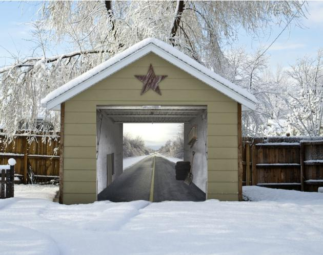 Unbelievably Real 3D Garage Door Art