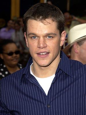 Matt Damon at the LA premiere of The Bourne Identity