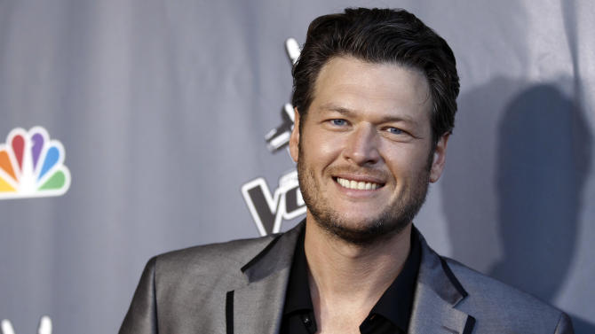 "Musician Blake Shelton poses for photographers after finale of ""The Voice"" in Burbank, Calif., Wednesday, June 29, 2011. Javier Colon was named the winner of the show during the finale. (AP Photo/Matt Sayles)"