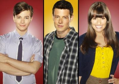 Chris Colfer, Cory Monteith, Lea Michele -- FOX