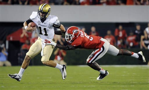 Murray leads No. 5 Georgia to 48-3 win over Vandy