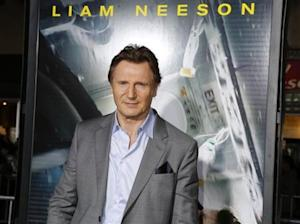 """Actor Liam Neeson poses at the premiere of his new film """"Non-Stop"""" in Los Angeles"""