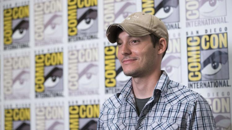 "Director Ball poses at a press line for ""The Maze Runner"" during the 2014 Comic-Con International Convention in San Diego"
