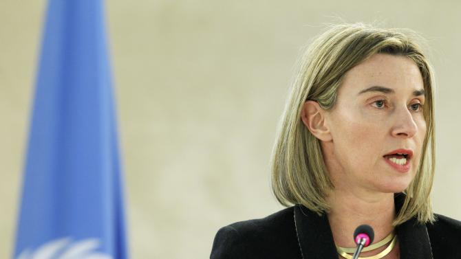 European Union Foreign Policy Chief  Mogherini addresses Human Rights Council at the United Nations in Geneva