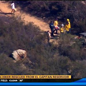 Fallen hiker rescued from El Capitan Reservoir