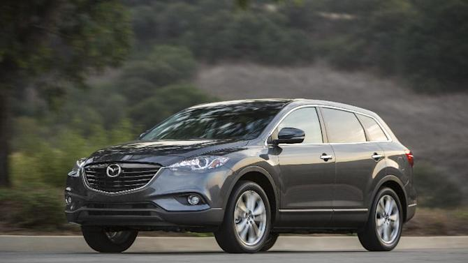 This undated product image provided by Mazda shows the 2014 Mazda CX-9. (AP Photo/Mazda)