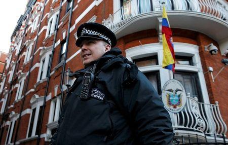 London police call off guard at Assange's Ecuador embassy bolt-hole