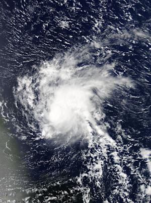 This NASA image released August 22, 2015 shows Hurricane Danny, which has now been downgraded to a Tropical Storm
