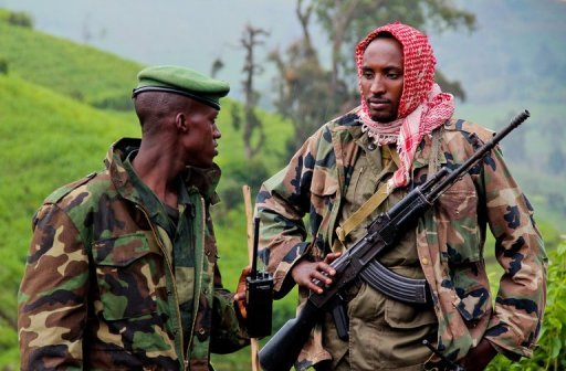 &lt;p&gt;Two M23 rebels patrol in rebel-held territory on Kavumu hill in North Kivu, eastern Democratic Republic of the Congo (DRC), earlier this month. UN sanctions experts have &quot;overwhelming evidence&quot; that Rwanda has breached an arms embargo to aid rebels in the Democratic Republic of Congo, according to a report obtained by AFP.&lt;/p&gt;