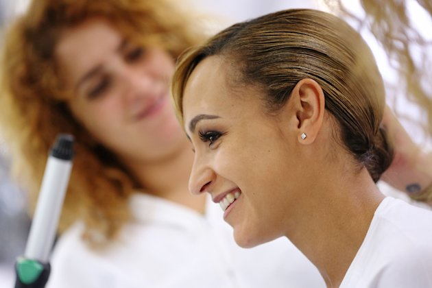 Jessica Ennis Visits P&G London Salon