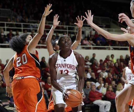 Ogwumike helps No. 1 Stanford beat Pacific 78-43
