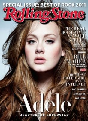 Adele as seen on the cover of Rolling Stone magazine's April 15, 2011 issue -- Rolling Stone