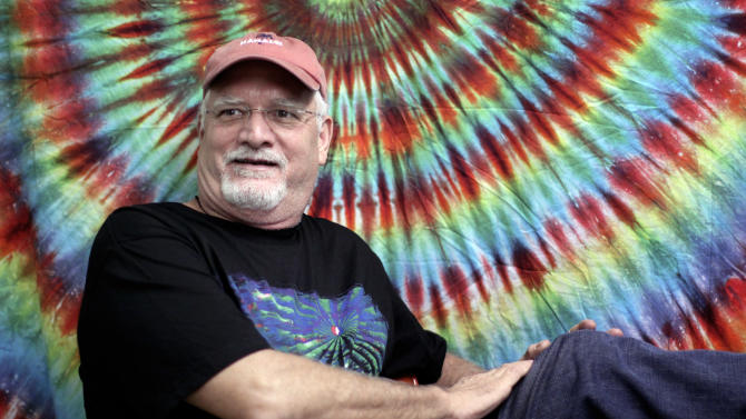 """FILE - In this May 9, 2009 file photo, drummer Bill Kreutzmann of The Dead, poses prior to a performance at the Forum in the Inglewood section of Los Angeles. Kreutzmann is working on a memoir scheduled to be published in 2015 by St. Martin's Press, the publisher announced Wednesday. The book, currently untitled, will include reflections on his """"deep bond"""" with the late Jerry Garcia and memories of Bob Dylan, the Rolling Stones and the Allman Brothers. (AP Photo/Richard Vogel, file)"""