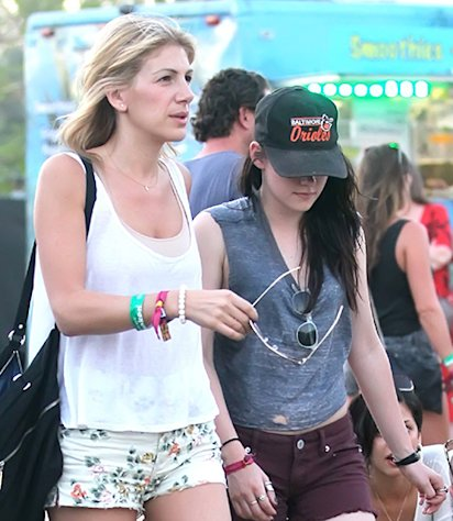 Kristen Stewart Wears Rob Pattinson's Hat at Coachella