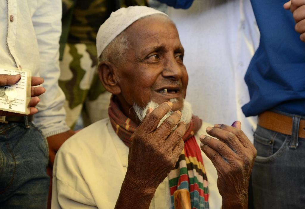 At 103, Indian man votes in first election
