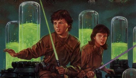 Jaina and Jacen Solo as depicted in 'Star Wars' comics