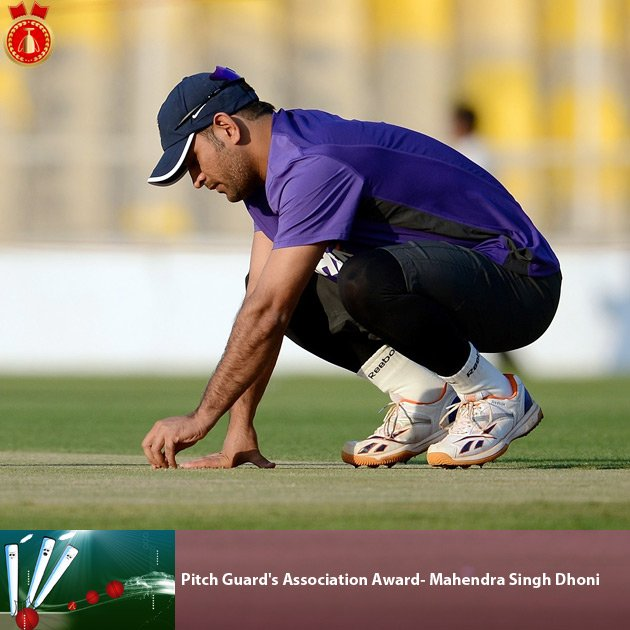 Pitch Guard's Association Award- Mahendra Singh Dhoni