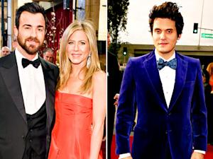 Jennifer Aniston, Fiance Justin Theroux Dine Next to Her Ex-Boyfriend John Mayer