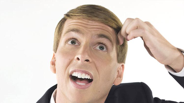 "Jack McBrayer as Kenneth Parcell in ""30 Rock."""