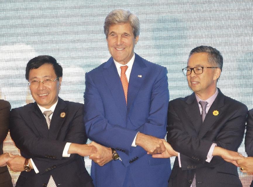 The Latest: Kerry meets with his Southeast Asia counterparts
