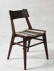 The Kirkwood Chair by Hendzel + Hunt made from reclaimed hard wood
