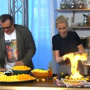 Swedish Morning Show Host Starts Kitchen Fire