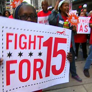 Low-paid fast food workers striking across the U.S.