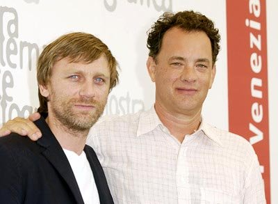 "Daniel Craig and Tom Hanks 2002 Venice Film Festival - ""Road To Perdition"" Photocall Casino Venice Lido,  Italy August 31, 2002 Photo by Jeff Vespa/WireImage.com  To license this image (590889), conta"