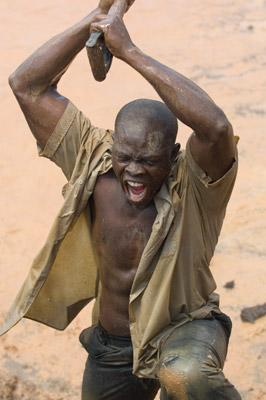 Djimon Hounsou in Warner Bros. Blood Diamond
