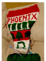My second Christmas stocking.  I have had fun knitting!  I hope it will bring my grandson joy in the years to come.