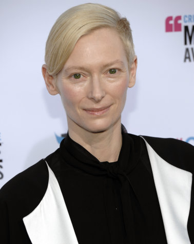 Tilda Swinton arrives at the 17th Annual Critics' Choice Movie Awards on Thursday, Jan. 12, 2012 in Los Angeles. (AP Photo/Dan Steinberg)