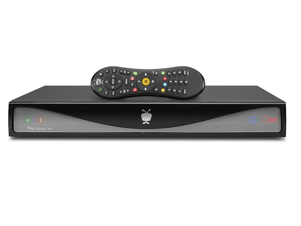 This image provided by TiVo Inc. shows a TiVo Roamio DVR, one of the companies new digital video recorders. TiVo Inc. announced a new line of digital video recorders Tuesday, Aug. 20, 2013, to give television viewers more control over what they watch on traditional channels and over the Internet. (AP Photo/TiVo Inc.)
