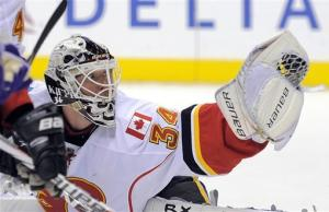 Flames' Kiprusoff hands LA 2nd straight 1-0 loss