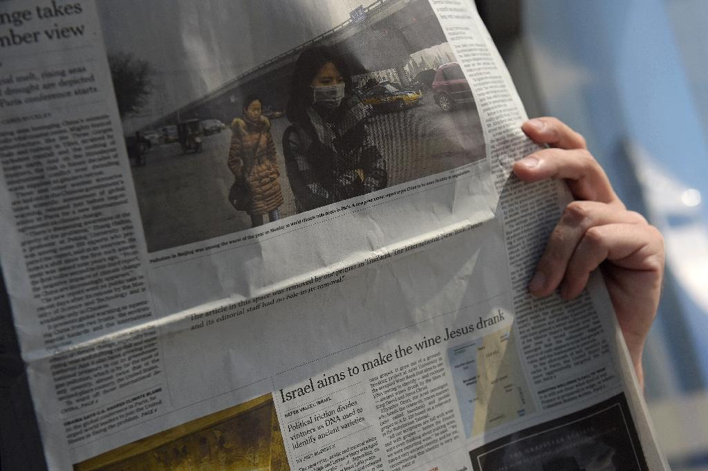 Blank spaces replace NYT article on flagging Thai economy