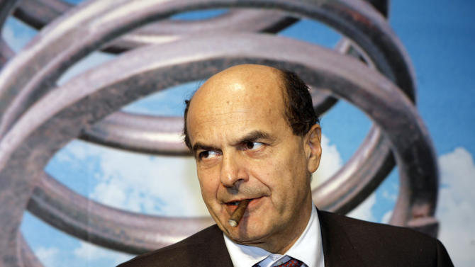 FILE -- In this file photo taken on Nov. 9 2007, center-left coalition leader Pierluigi Bersani arrives for a meeting in Milan. The ascent of Bersani _ whose camp in late January enjoyed roughly 33 percent support against some 27 percent for the Berlusconi side _ also has much to do with his ability to draw on the former Communist Party's entrenched network of activists, funding and economic connections, such as business cooperatives. (AP Photo/Luca Bruno)