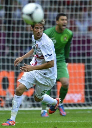 Coentrao in Portugal's win against the Czech Republic