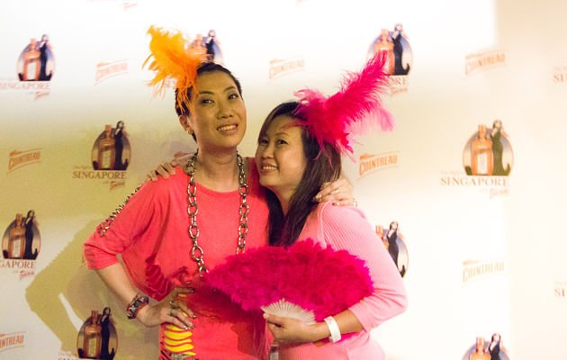 "Patricia Mok happily poses at the party ""Get Cointreauversial with me"" on Wednesday evening. (Yahoo! photo)"