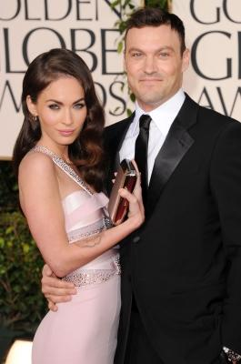 Megan Fox and Brian Austin Green arrive at the 68th Annual Golden Globe Awards held at The Beverly Hilton hotel, Beverly Hills, January 16, 2011 -- Getty Images