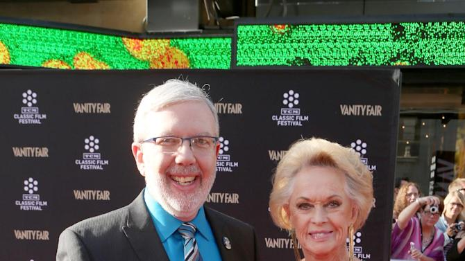 Actor Leonard Maltin and actress Tippi Hedren at the 2013 TCM Classic Film Festival's Opening Night Gala at the TCL Chinese Theatre on Thursday, April 25, 2013 in Los Angeles. (Photo by Alexandra Wyman/Invision/AP)