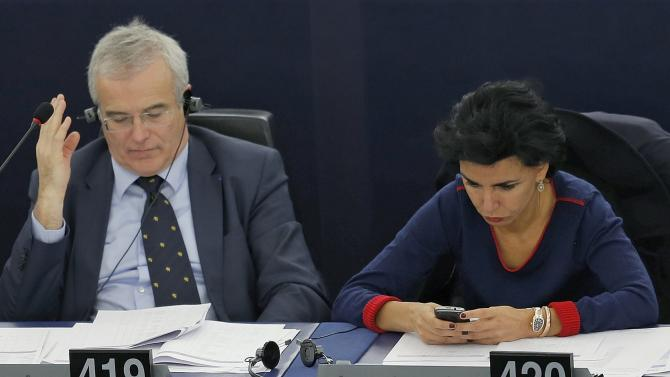France's Member of the European Parliament Dati takes part in a voting session at the European Parliament in Strasbourg