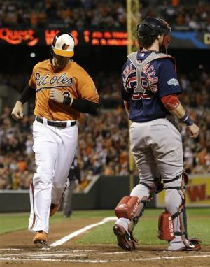 Orioles beat Boston, gain tie for AL East lead